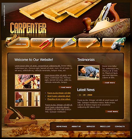 Carpenter - Flash template