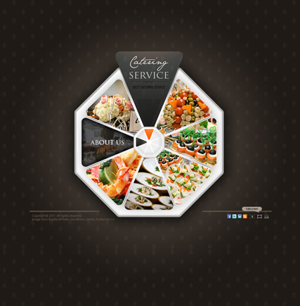 Catering service - VideoAdmin flash templates