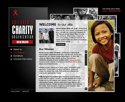 Charity - Flash template