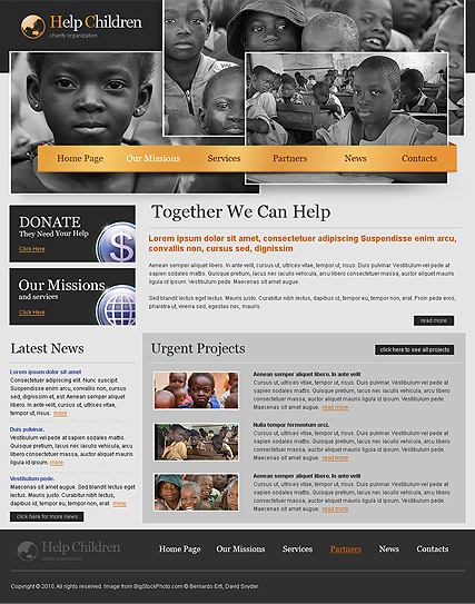 Charity - HTML template