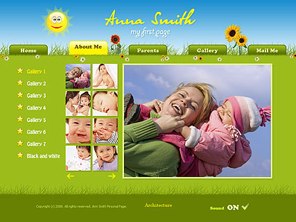 Child personal - GalleryAdmin flash templates