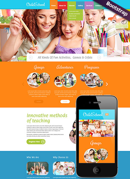 Children School - HTML template