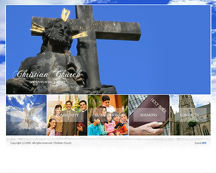 Christian Curch - Easy flash templates
