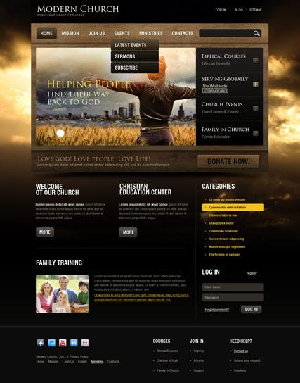 religious website templates free