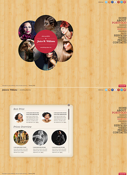 Circle design - HTML5 Gallery Admin