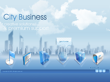 City Business - Easy flash templates