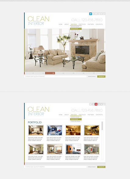 Clean Interior - HTML5 templates