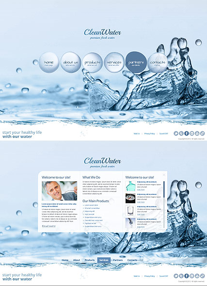 Clean Water - HTML5 templates
