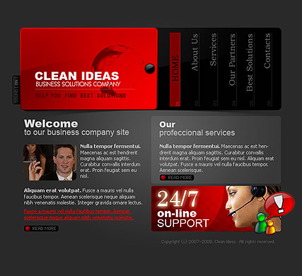 Clean ideas - Flash template