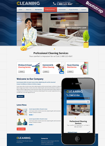 Cleanin - HTML template