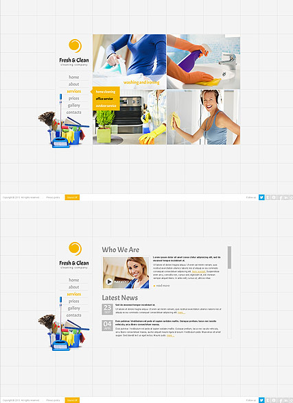 Cleaning company - HTML5 templates