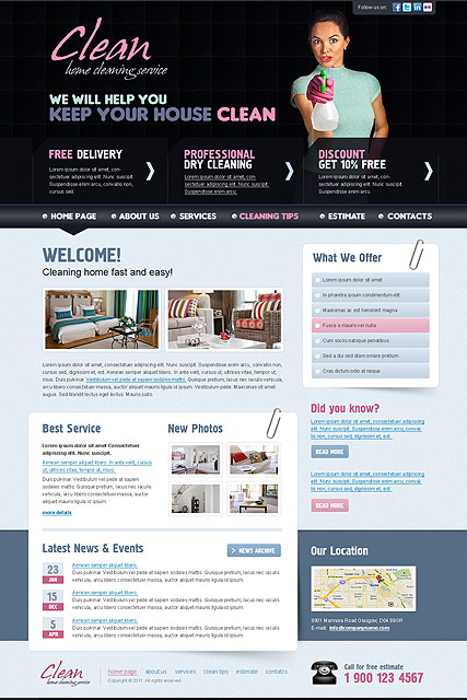 Cleaning - HTML template