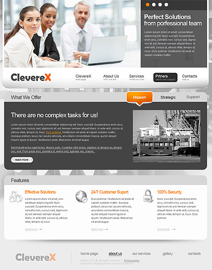 Clever Business - HTML template