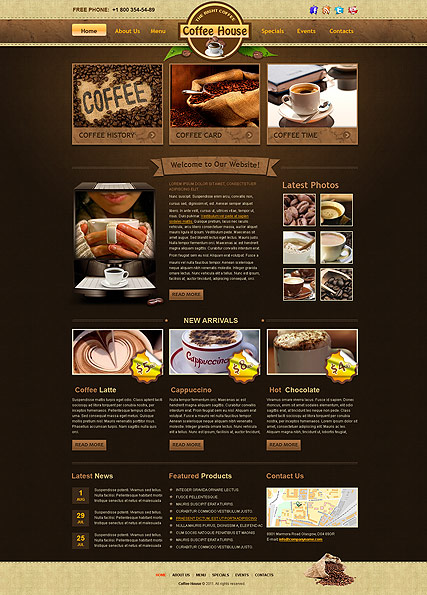 Coffee House - HTML template
