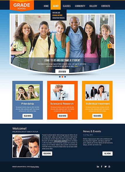 College - HTML template