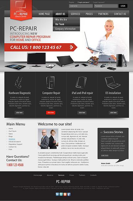 computer repair templates