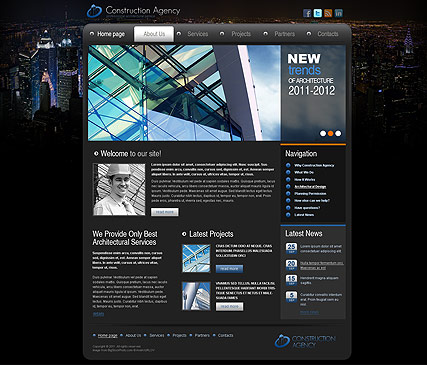 Construction - HTML template