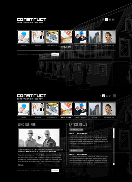 Construction - HTML5 templates