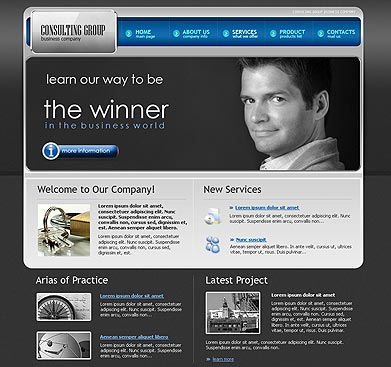 Consulting Gr. - HTML template
