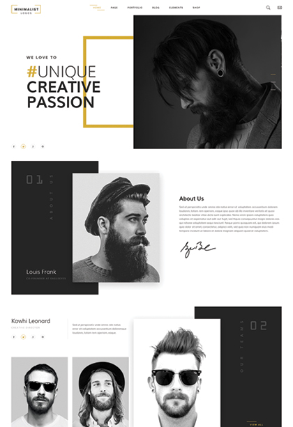 Creative studio - HTML template
