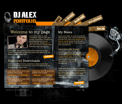 DJ Portfolio - Flash template