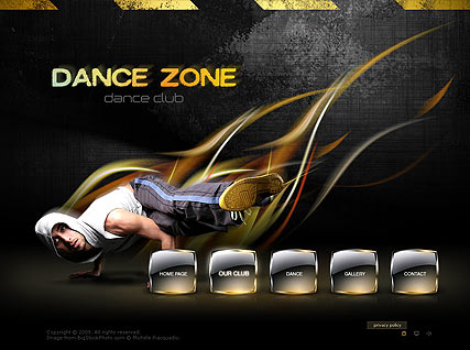 Dance Zone - Easy flash templates