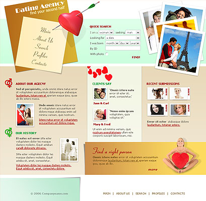 Dating - Website template