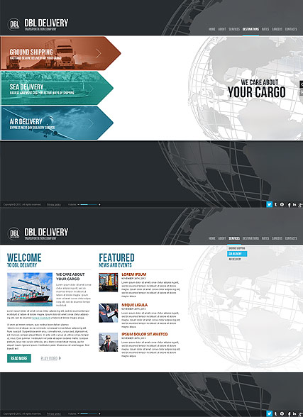 Delivery Company - HTML5 templates