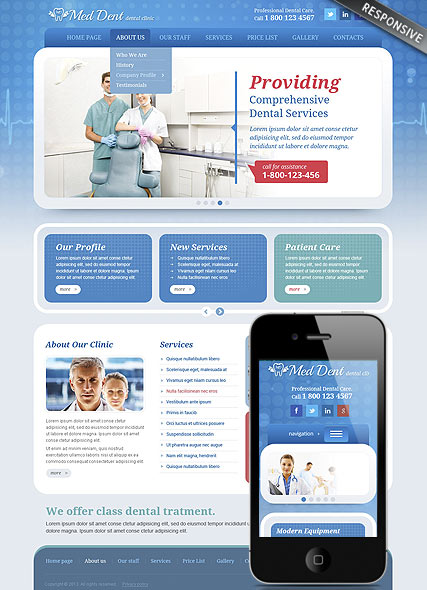 Dental Clinic - Wordpress templates