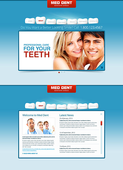Dentistry - HTML5 templates