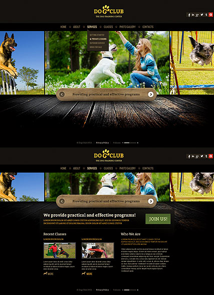 Dog Club - HTML5 templates