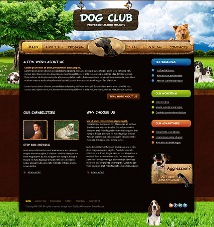 Dog Training - HTML template
