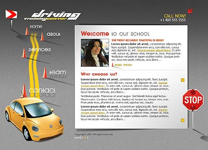 Driving School - Flash template