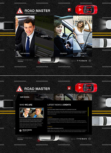 Driving School - HTML5 templates
