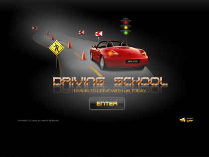 Driving school - Easy flash templates