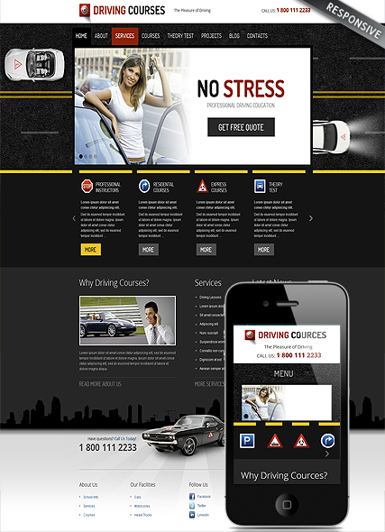 Driving school - Wordpress templates