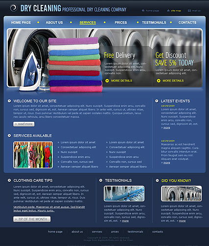 Dry Cleaning - HTML template