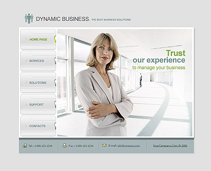 Dynamc business - Flash template