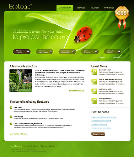 Ecology - HTML template