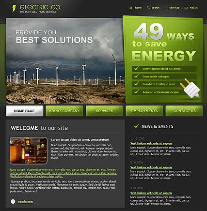 Electric co. - Website template