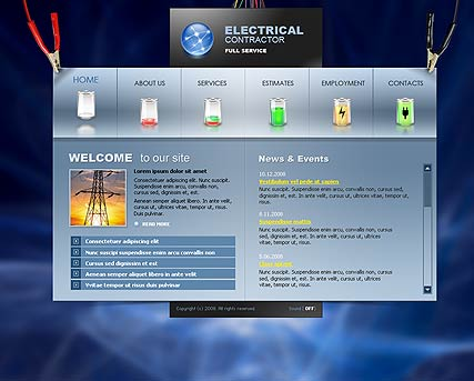 Electrical contractor - Flash template