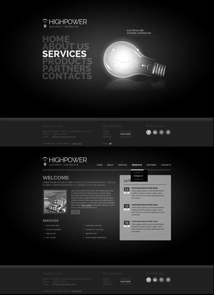 Electricity Contractor - HTML5 templates