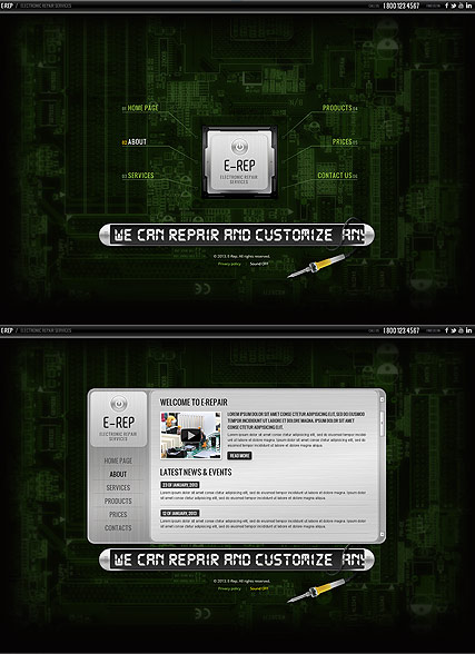 Electronic repair - HTML5 templates
