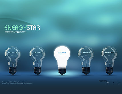 Energy Company - Easy flash templates