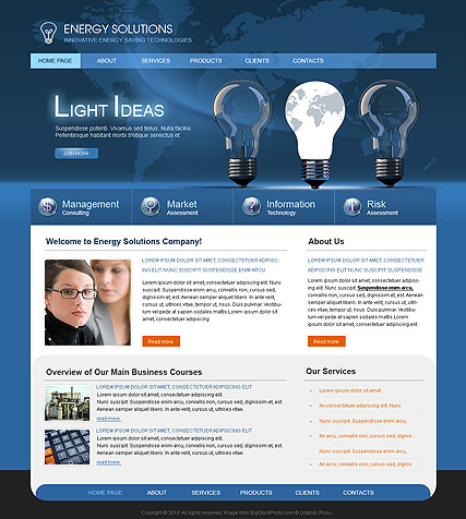 Energy Solutions - Website template