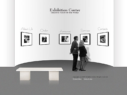 Exhibition center - Flash template