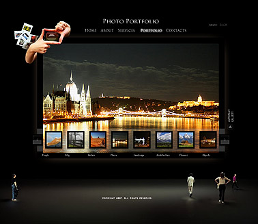 Exhibition - GalleryAdmin flash templates