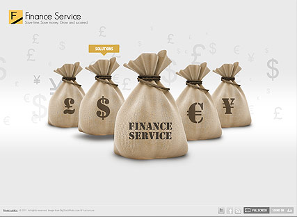 Finance Service - Easy flash templates