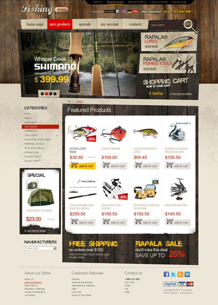 Fishing tackles 2.3ver - osCommerce