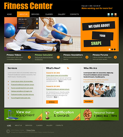 Fitness Center - HTML template